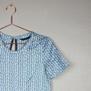 Zara Basic Women's XS Key Hole Peplum Shirt